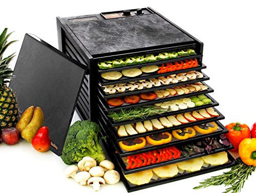 Excalibur 3900B 9-Tray Electric Food Dehydrator with Adjustable Thermostat Accurate Temperature Control Faster and Efficient Drying Includes Guide to Dehydration Made in USA, 9-Tray, (10 Tray Food Dehydrator)
