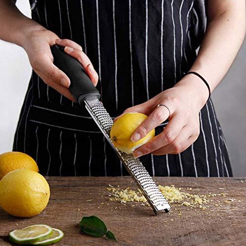 Lemon Cheese Grater 12Inches,Stainless Steel Rectangle Gadget Slicer Fruit Peeler Nutmeg Orange Zester Kitchen Tool
