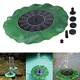 Vanvler Solar Fountain Pump | Bird Bath Fountain 1.4W Free Standing Outdoor Watering Submersible Pump for Pond, Garden and Patio (Black)