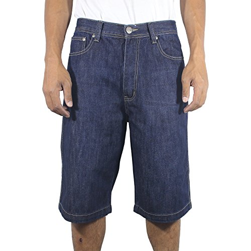 The Next Movement Mens Denim Big & Tall Jeans Short(36, Dark- blue) (Belted Leather Jeans)