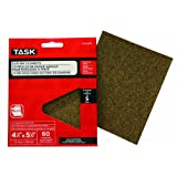 Task Tools POX55060 4-1/2-Inch by 5-1/2-Inch Clip-On 1/4-Sheet Sandpaper, 60 Grit, 5-Pack