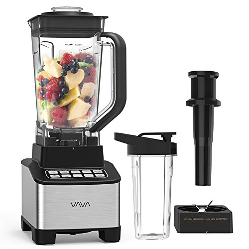 VAVA Smoothie Blender, 1200W Professional Blender for Shakes and Smoothies with 68oz Jar & Personal 20oz Blender Bottle, BPA Free, High Speed(Upgraded)