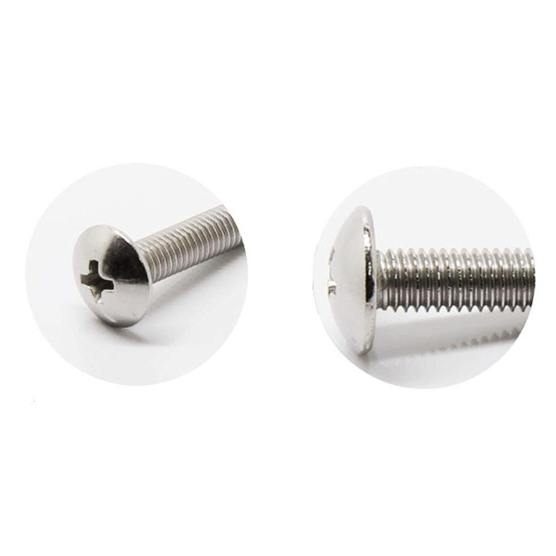 TOUHIA M4x25mm 304 Stainless Steel Machine Screws Phillips Cross Head Screw for Cabinet Drawer Knob Pull Handle 50Pcs