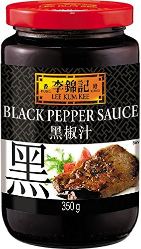 Lee Kum Kee Black Pepper Sauce, 12.4-Ounce Jars (Pack of 3)