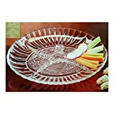 """Crystal Clear Industries Trellis Oval Sectional 4-Part Relish 10"""""""