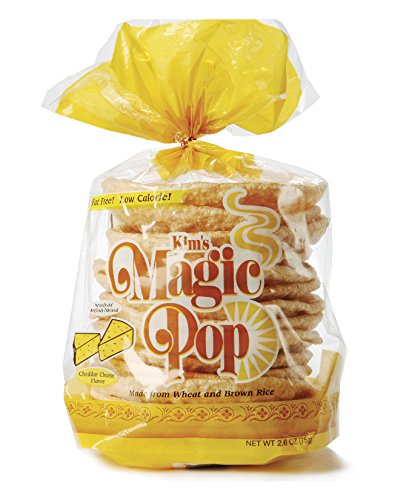 Kim's Magic Pop Cheddar Cheese Flavor 12-Pack: Freshly Popped Rice Cakes, Healthy Grain Snack, 0 Weight Watchers Point