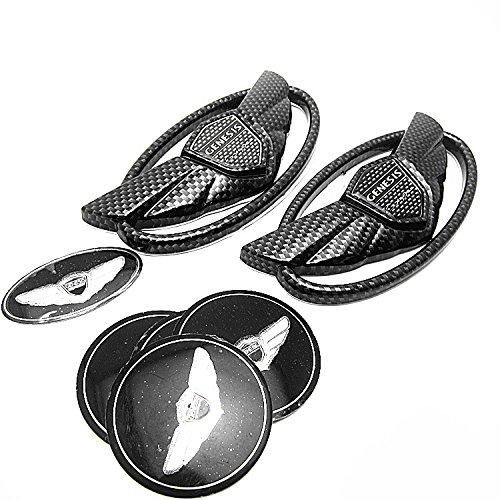 Coupe Wing - 7pcs New 3D Carbon Fiber Genesis Wing Badge Emblem Sticker For Hyundai Genesis **US Stock**