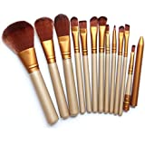Bestpriceam 12 pcs/set Makeup Brush Set (Gold)