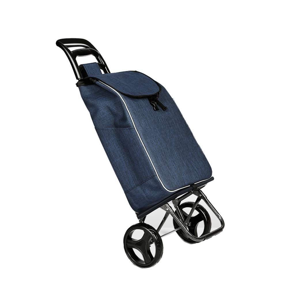 ショッピングカートの家の上昇のトロリートロリー/年配のトロリーカートの取り外し可能なトロリー車/ホームショッピングカートの荷物のカートの折りたたみ/耐荷重35kg (Color : Blue, Size : 40*32*95cm) B07GR5Q8ZP Blue 40*32*95cm