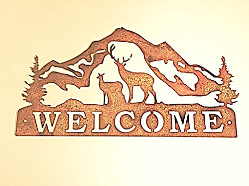 Welcome Rusted Rustic Metal Mountains product image