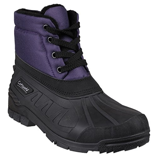 Cotswold Womens/Ladies Leoni Lace Up Rubber Upper Canadian Snow Boots Purple