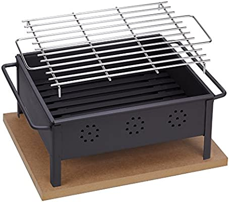 Sauvic 02906 Barbacoa SOBREMESA 30X25 con Parrilla Inoxidable 18/8 ...