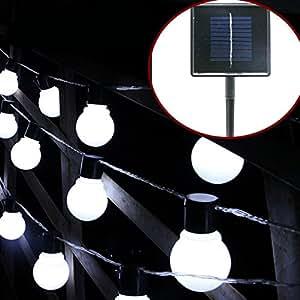 kalri Solar LED String Luz Guirnalda de decoración bombilla LED lámpara de cuentas para jardín, patio, Navidad, vacaciones