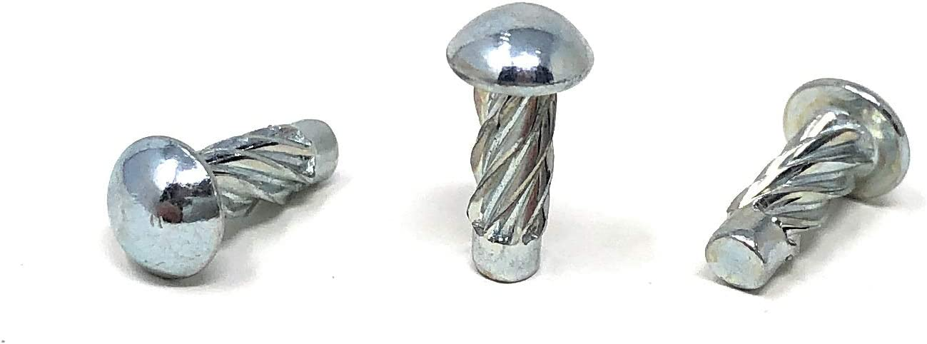50 Pack Self Tapping U-Drive Screw Made from Steel Zinc Plated 1//8 Width