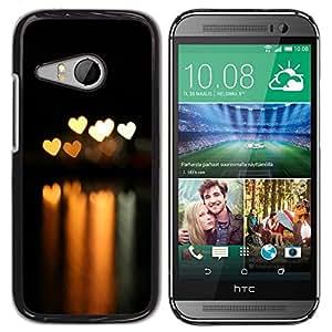 LECELL -- Funda protectora / Cubierta / Piel For HTC ONE MINI 2 / M8 MINI -- Bokeh Lights Hearts --