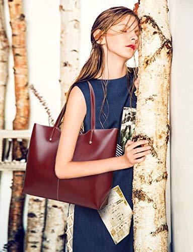 Large Womens Capacity Tote Handbags and A red Satchel Bag QUEENTOO Top Designer Purses Handle Shoulder PU Leather Ladies Handbags rwrq45