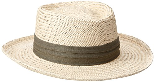 Tommy Bahama Men's Palm Fiber Gambler Hat, Taupe, Extra Large