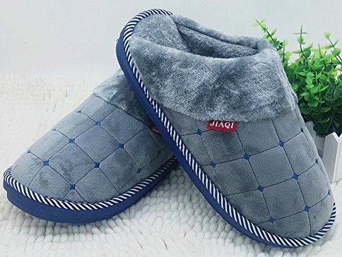 CWAIXXZZ pantoufles en peluche L'augmentation d'hiver chaussons coton code men's King Size 45 46 47 48 d'épaisseur, antidérapants chaussures accueil chaleureux ,280 (pour un 40-41 pied d'usure), brown