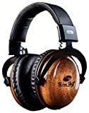 """Urban Vinyl Classics: Premium Genuine """"Thick"""" Solid Wood Headphones (Studio Quality)"""
