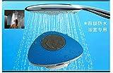 Waterproof LoudSpeaker,Facleta Wireless portable Speaker MP3 Handfree Call for Shower Room,Drive-Blue
