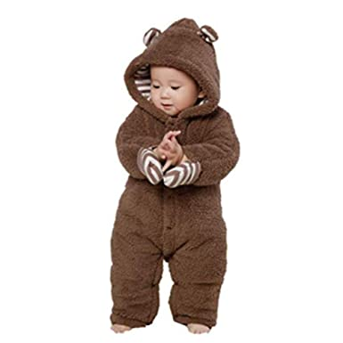 8429c83ccb95 Digirlsor Baby Unisex Cute Romper Animal Onesies Toddler Snow Suit Newborn  Jumpsuit Winter