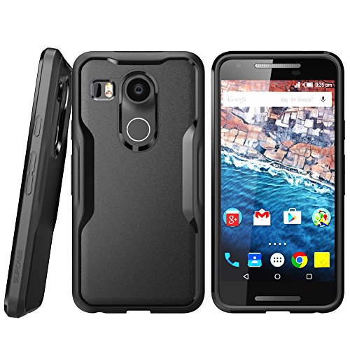 Nexus 5X Case, SUPCASE Google Nexus 5X Case Cover (2015 Release) Unicorn Beetle Series PremiumSlim Hybrid Protective Case/Bumper (Black/Black)