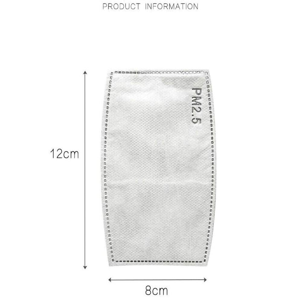 5 Layers Replaceable Anti Haze Filters 10 pcs Protective Mouth Mask Filter for Outdoor 10//50Pcs PM2.5 Activated Carbon Filter