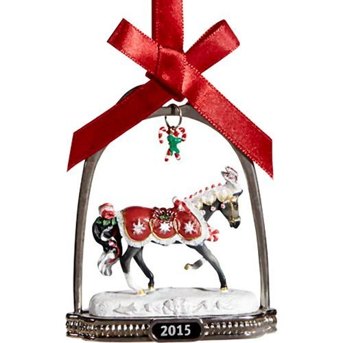 Peppermint Kiss - 2015 Holiday Horse Stirrup Ornament by Breyer