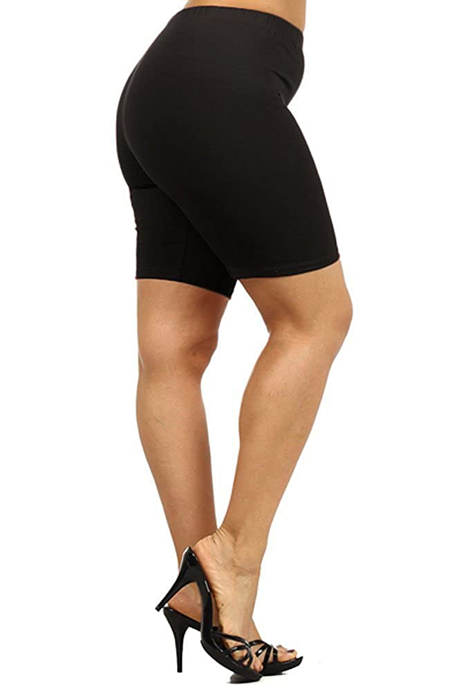 786754b78d9 Top4  World of Leggings® Made in the USA PLUS SIZE Cotton Knee High Thigh  Shorts - 4 Colors