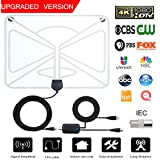 UPGRADED VERSION WOAH HD Digital TV Antenna, 80-150 Mile Range Indoor HDTV Antenna Support 4K 1080p & All Older TV's Indoor Powerful HDTV Amplifier Signal Booster