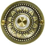 Wired Round Doorbell, Brass