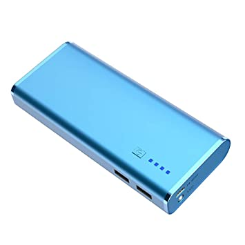 BONAI Power Bank 10000mAh Bateria Externa Cargador Portatil para iPhone, iPad, Samsung, Xiaomi Móviles Inteligentes y Tabletas-Azul