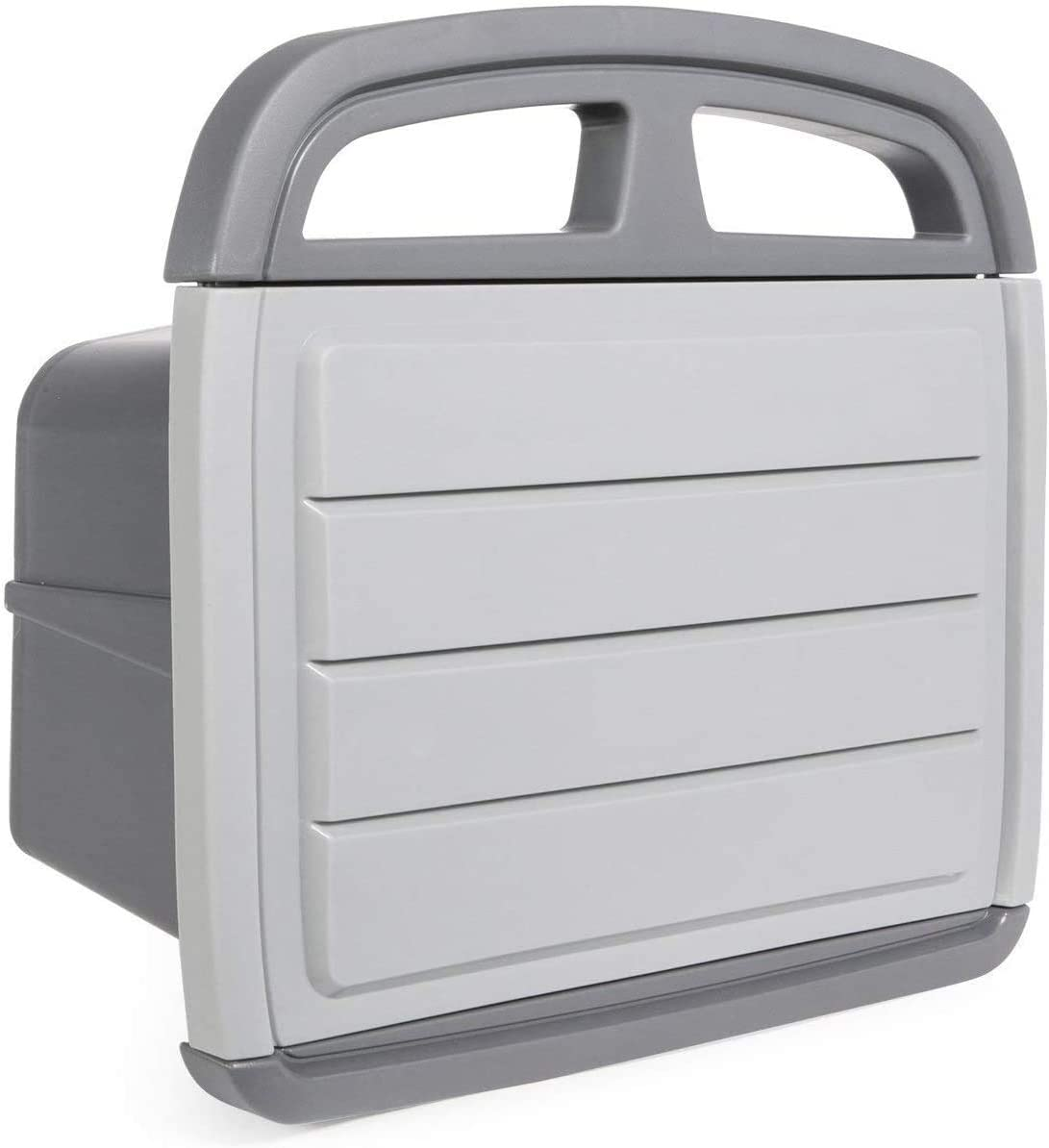 CrownLand Garden Hose Holder with Storage Compartment, Garden Toolbox Hose Reel 150 Ft Garden Hose Water Pipe Available