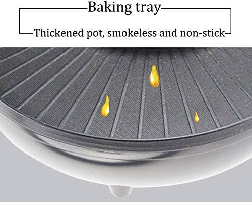 Grill et Hot Pot Double Pot Intégré Cuisson Pot 40,5 Cm Grill Plaque Électrique Grill Barbecue Et Asie Fondue 1700 W Noir Uptodate