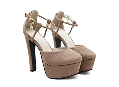 f05bd7c8941 S Women s Platform Ankle Strap High Heel - Peep Toe Sandal Pump Stiletto  Dress