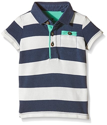 TOM TAILOR Kids Baby-Jungen Poloshirt Striped Pique Polo, Weiß (Soft Clear White 2067), 74