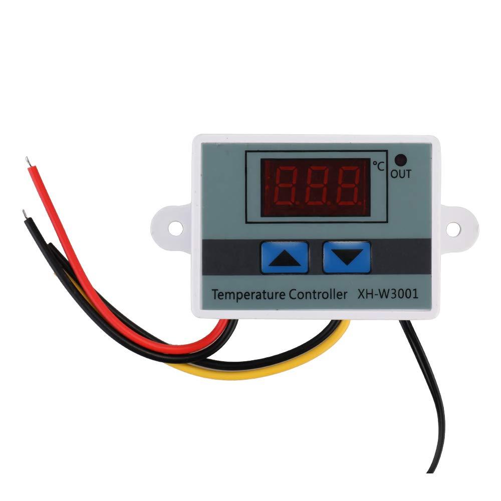 KKmoon xh-w3001 Regulador de temperatura con pantalla LCD digital Termostato Microcomputer termocupla Termostato