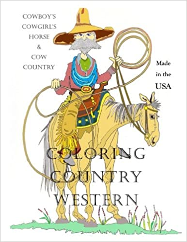 Amazon Com Coloring Country Western Cowboy S Cowgirl S