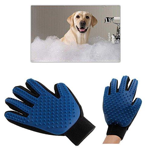 Pet Deshedding Cleaning Brush Magic Glove Dog Cat Hair Massage Grooming Groomer