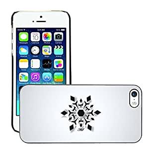 Super Stellar Slim PC Hard Case Cover Skin Armor Shell Protection // M00052550 design snowflake black simple art // Apple iPhone 5 5S