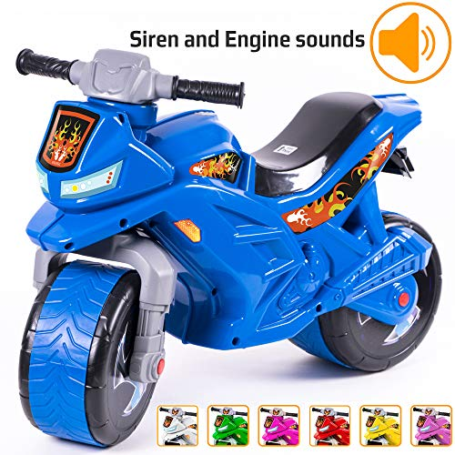 KIDZEÜG Push Bike Balance Ride-on - for Toddlers and Kids 2-5 Years Old Plastic...
