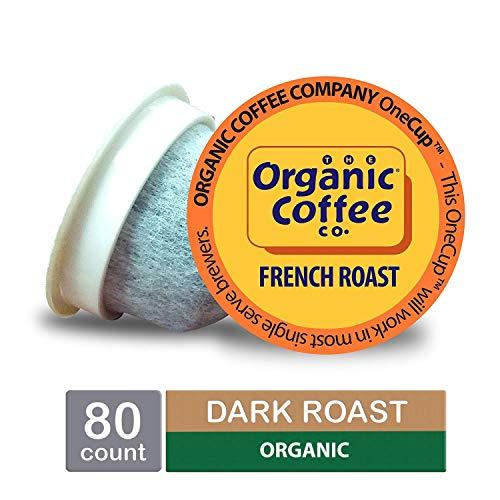 (The Organic Coffee Co. OneCup, French Roast, Single Serve Coffee K-Cup Pods (80 Count), Keurig Compatible)