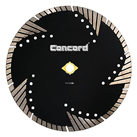 Concord Blades STM070D10HP 7 Inch Granite and Marble Segmented Turbo Teeth Diamond Blade