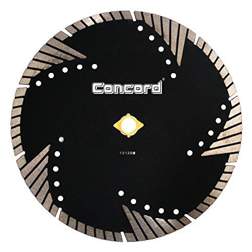 Concord Blades STM070D10HP 7 Inch Granite & Marble Segmented Turbo Teeth Diamond - Turbo Cut Diamond Standard Dry