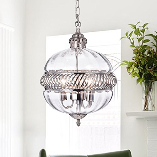 Warehouse of Tiffany RL8168PN Permin Globe Clear 13 inch Glass & Metal