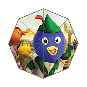 Hot Children Cartoon Education TV Play&The Backyardigans Background Triple Folding Umbrella!43.5 inch Wide!Perfect as Gift!