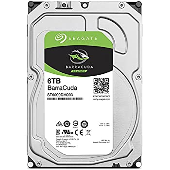 Seagate Bare Drives 6TB Barracuda Sata 6GB/s 256MB Cache 3.5-Inch Internal Hard Drive 3.5 Internal Bare/OEM Drive ST6000DM003
