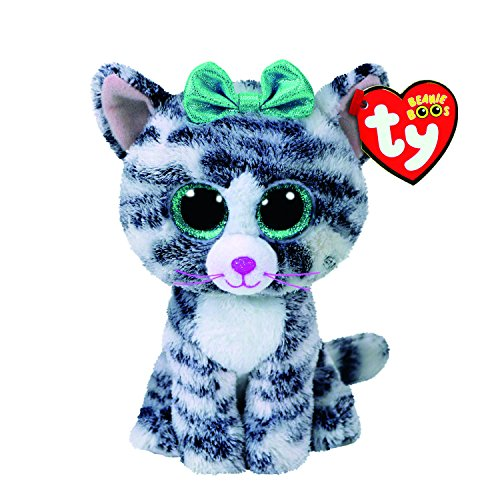 Claire's Girl's TY Beanie Boo Small Quinn the Cat Plush Toy in ()