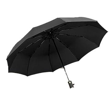zhenfa 10k Oro Manejar automático Plegable Negocio del Paraguas del Paraguas de Paraguas Hombres