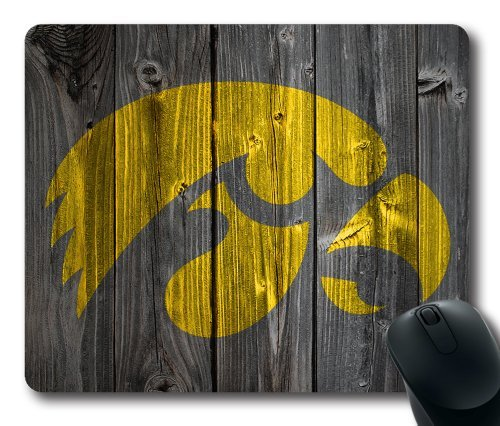Iowa Hawkeyes Wood Look Mouse Pad, Customized Rectangle Mousepad Diy By Bestsellcase